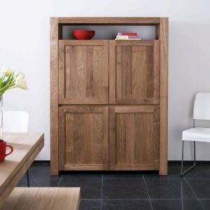 Teak dispay cabinet and book shlelf