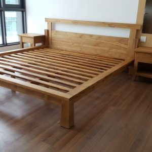 Solid bed frame