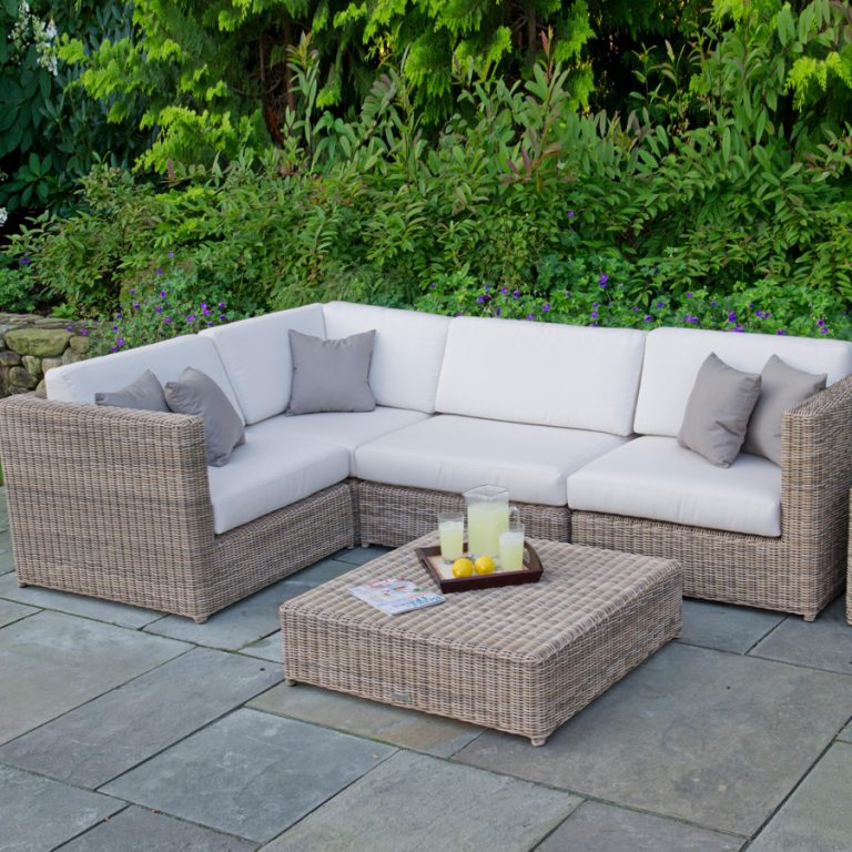 Wicker outdoor sofa in Penang, commercial furniture in Langkawi