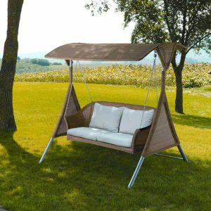 Wicker Swing, Wicker garden swing Malaysia