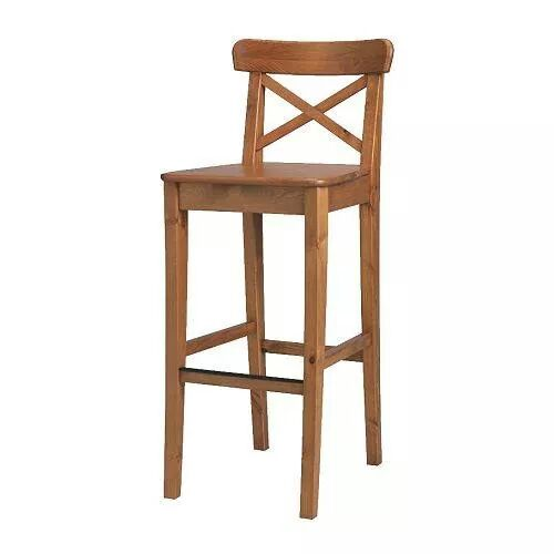 cross teak bar chair