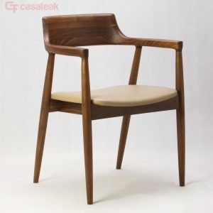 Modern designer chair with seat cushion