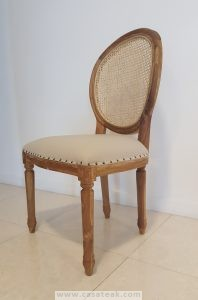 Fabric seat French design dining chair Malaysia, Farm house furniture KL