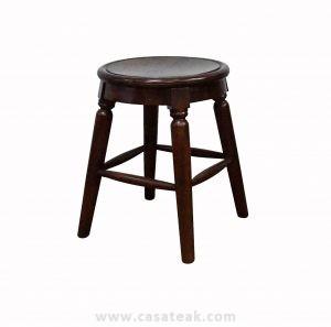 kopitiam stool, teak wood round stool, Kopitiam chair