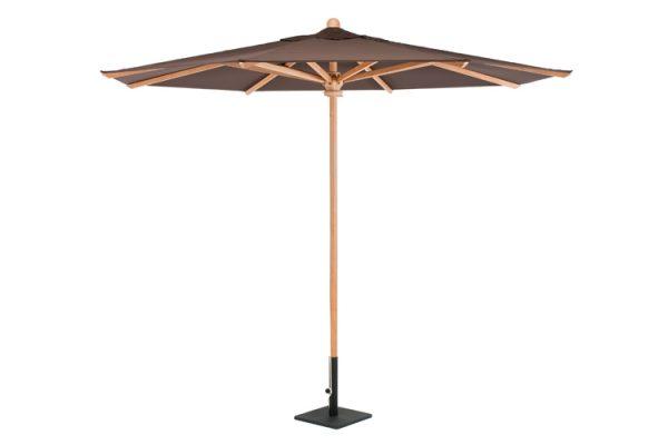 Garden round umbrella, teak parasols