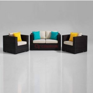 Tajani Wicker Sofa Set