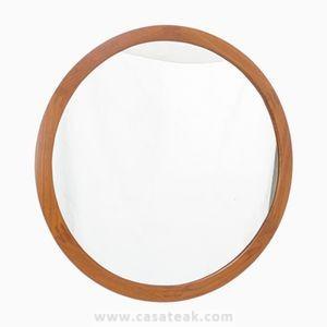 Wall mirror Round, teak round mirrors