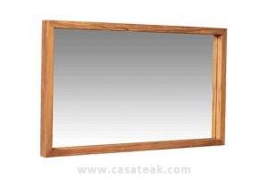 Teak Wall Mirror, Wooden mirror frame