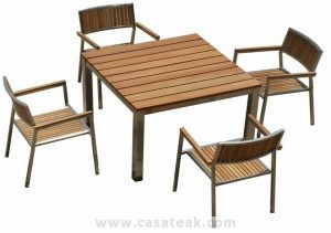 Teak Wood Outdoor Dining Set, teak garden dining set