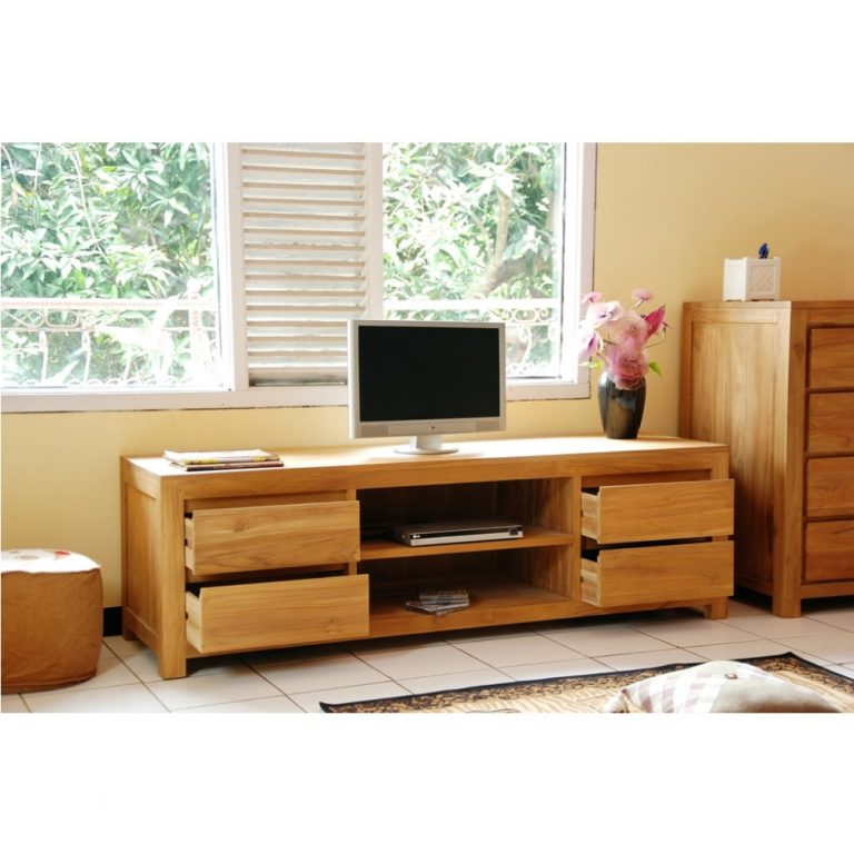 Teak wood Tv Cabinet, tv Console, Teak indoor furniture