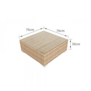 coffee table, wicker coffee table, outdoor coffee table