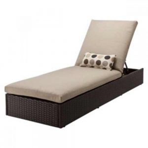 Wicker lounger, outdoor wicker lounger