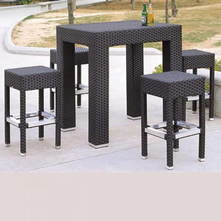 wicker bar set, bar table, commercial furniture