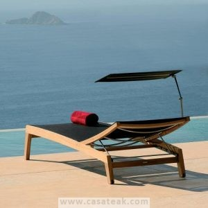 outdoor loungers , teak poolside bed, loungers