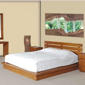 Queen size bed designs wooden