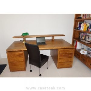 writing desk, teak wood writing table kl