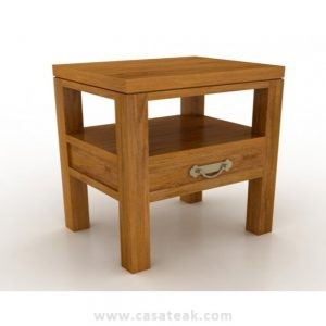 Casa Side Table, teak bedside tablels