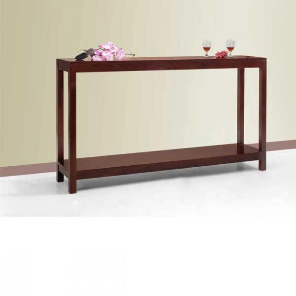 teak console table