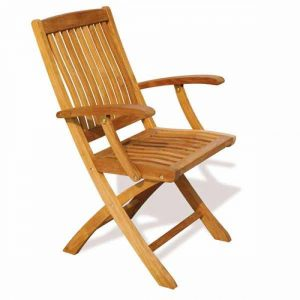 teak garden furniture Malaysia, folding wooden chair