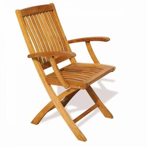 teak garden furniture Malaysia, folding wooden chair