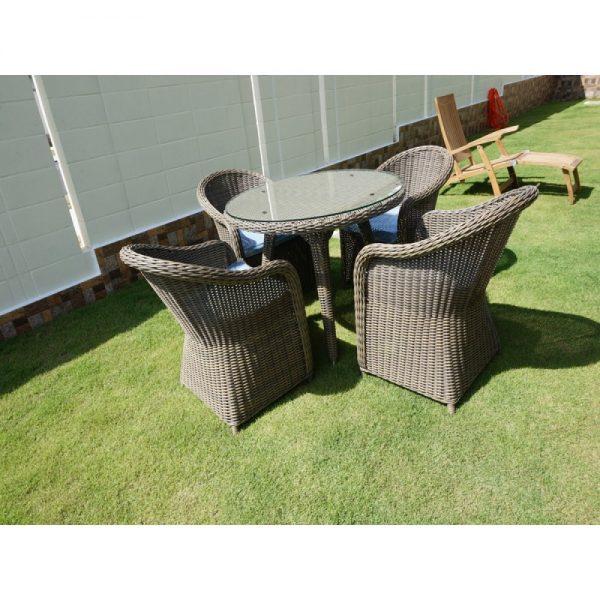 Kabu round dining set, garden furniture, wicker dining set, outdoor dining table, garden furniture KL