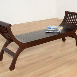 Teak wood Kartini Bench, Wooden bench, low shoe bench