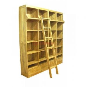 Ladder Book Case , teak wood book shelf