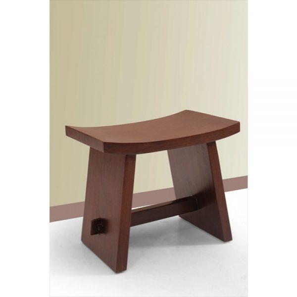 Teak lengkung stool