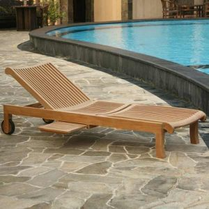 Solid Teak wood sun lounger available at casateak Malaysia