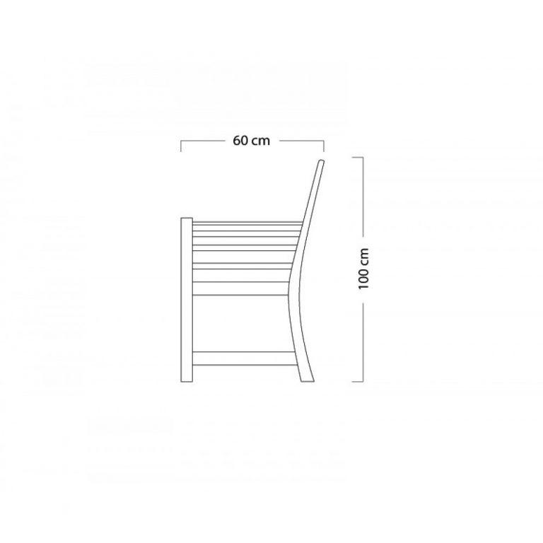 Teak wood bench, Garden 3 seater bench Malaysia