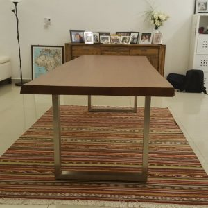 Indoor teak dining table