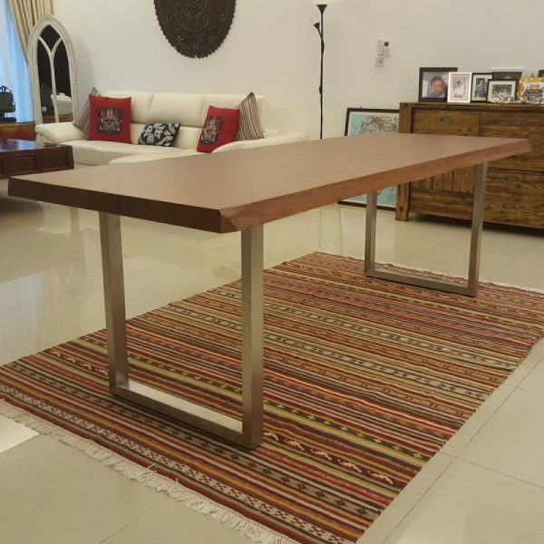 Indoor teak dining table