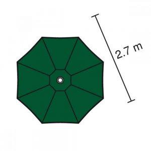 Teak round garden parasols
