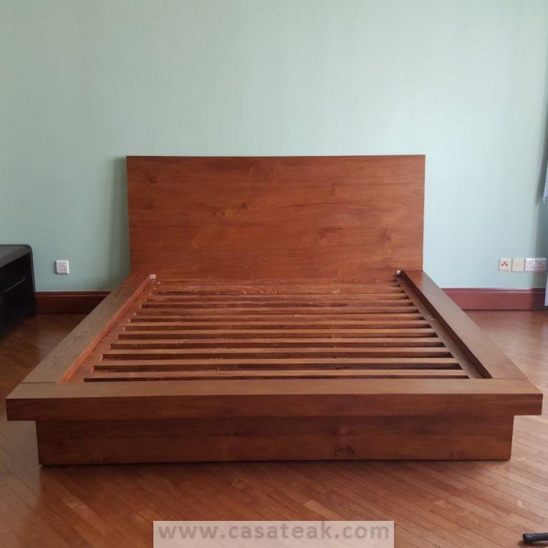 pax bed frame, solid wood bed frame