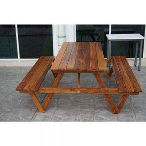 solid teak outdoor bench for gardens,