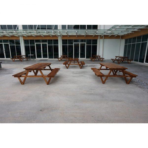 Outdoor solid wood bench, teak wood outdoor bench in PJ