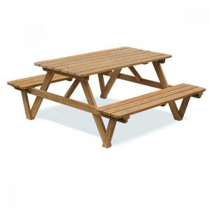 Picnic table, garden table with benches