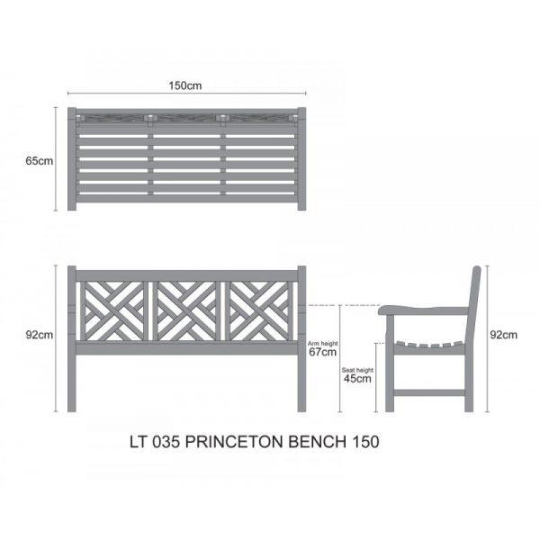 teak wood bench, outdoor garden bench Shah Alam