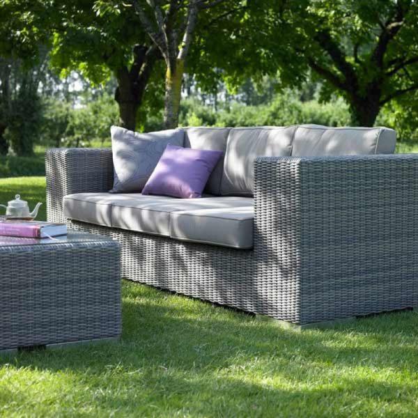 Wicker modern sofa, outdoor garden sofa PJ, Comfort Sofa