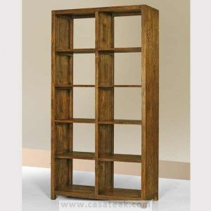 reclaimed bookcase, teak book shelf solid wood