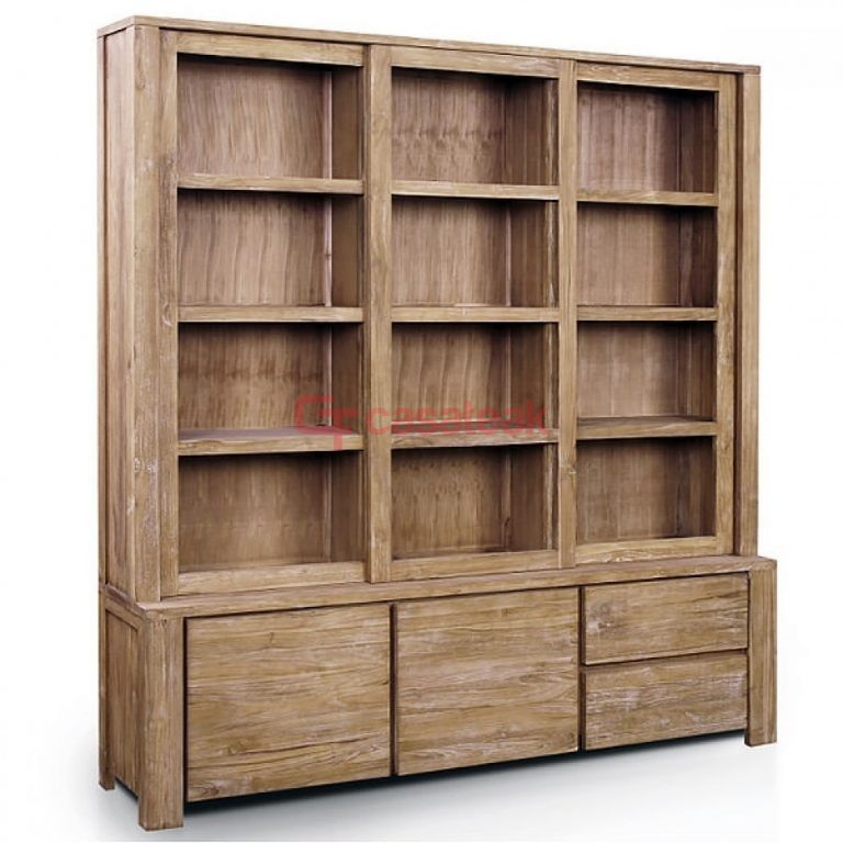 Recycled Display Cabinet, display racks teak wood.