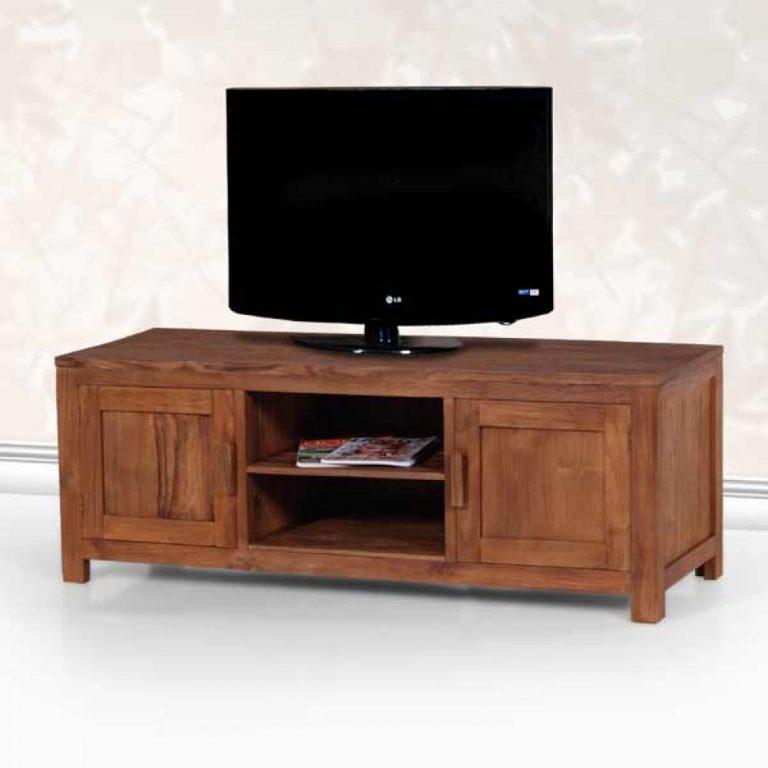 Rustic teak tv console