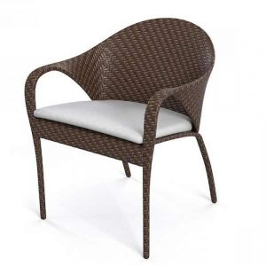 wicker stacking chair, wicker dining chair