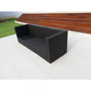 wicker sofa, 3 seater sofa