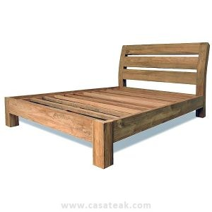 teak queen size bed, reclaimed teak wood