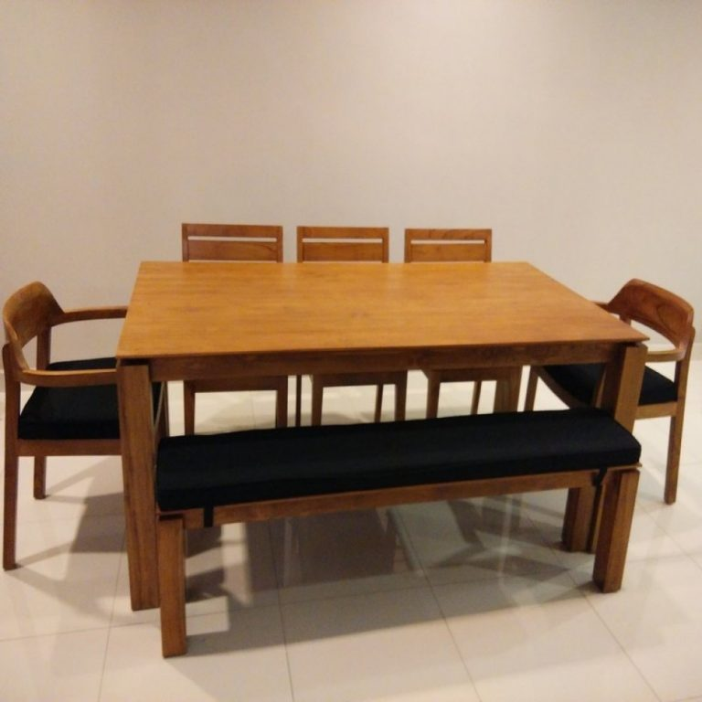 Slice teak dining set in Kl, pj, wooden table Malasia
