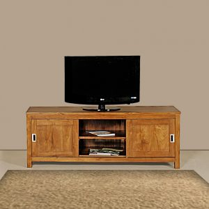 Sliding doors tv stand