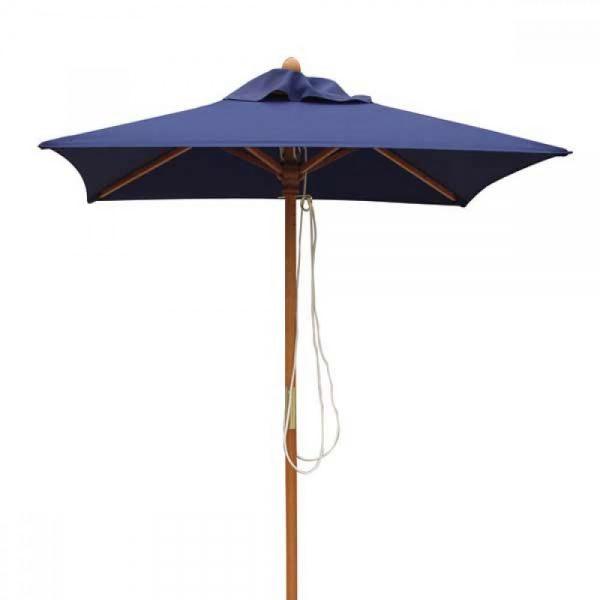 Teak garden parasols