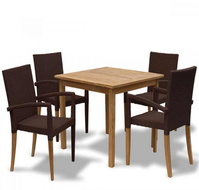 outdoor table outdoor wooden table with wicker chairs garden set KL