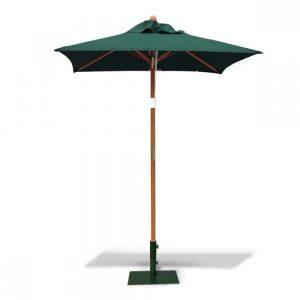 Teak garden umbrella